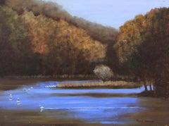 Lake Solitude en Plein Air, Painting, Oil on MDF Panel