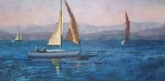 Last Light on the Hudson, Painting, Oil on Canvas
