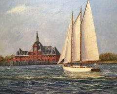 Morning Tide, New York Harbor, Painting, Oil on Canvas