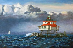 Thomas Point Lighthouse, Painting, Oil on Canvas