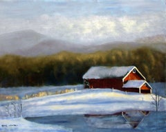 Winter Pond, Painting, Oil on Canvas