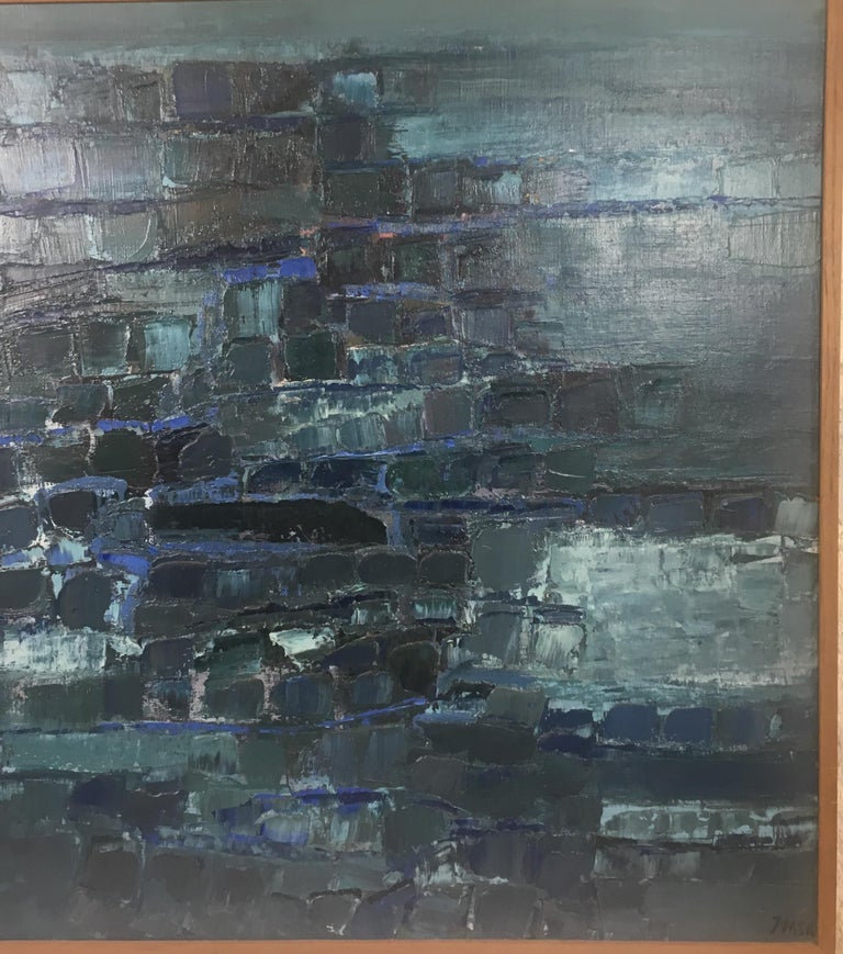 Mid-Century Modern Midcentury Abstract Art Composition by Mark Janson, circa 1958 For Sale