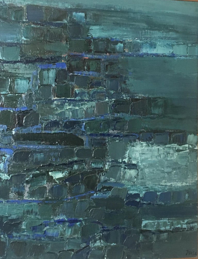 French Midcentury Abstract Art Composition by Mark Janson, circa 1958 For Sale
