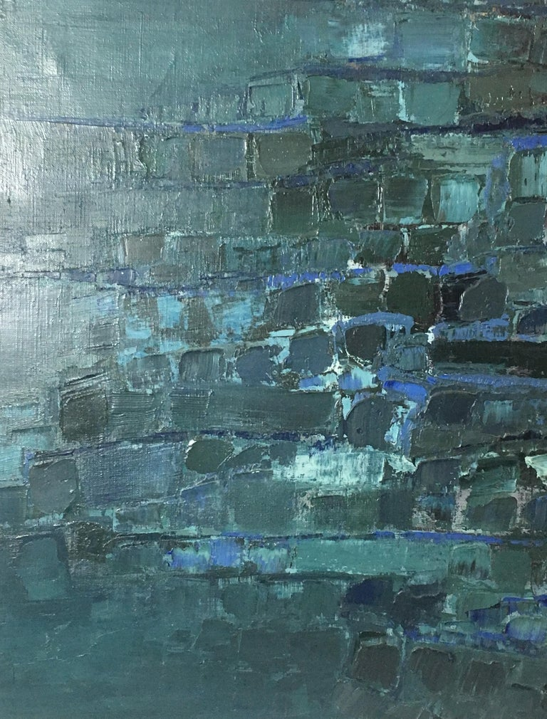 Paint Midcentury Abstract Art Composition by Mark Janson, circa 1958 For Sale