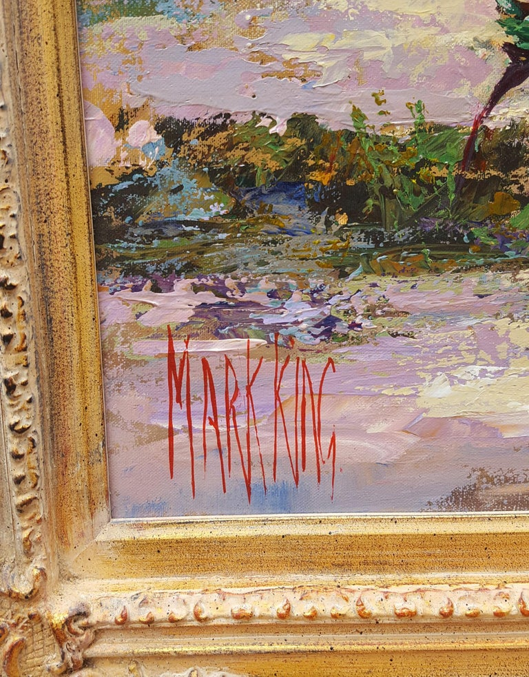 Cézanne's Studio (Atelier Cézanne) - Brown Landscape Painting by Mark King