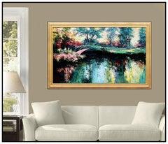 Mark King Large Original Oil Painting On Canvas Floral Landscape Signed Artwork