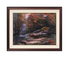 Mark King Original Oil Painting On Canvas Signed Landscape Framed Artwork