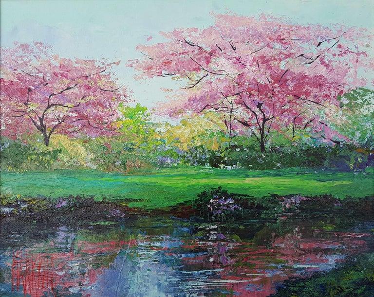 Mark King Landscape Painting - Plum Blossoms