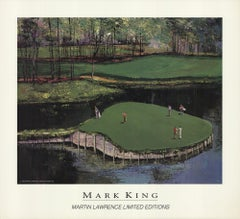 1993 After Mark King 'Golf' Realism Brown,Green,Gray,Black USA Offset Lithograph