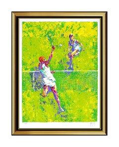 Mark King Female Tennis Serigraph Original Hand Signed Sports Artwork Deuce SBO