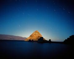 The Pyramid by Moon Light, Pyramid Lake, NV, 9/13/00