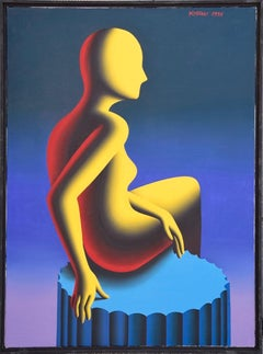 Goddess of Confirmation - Original Oil on Canvas by M. Kostabi - 1995