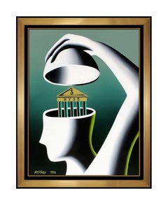 MARK KOSTABI Original oil Painting On Canvas New York Pop Art Signed Faceles