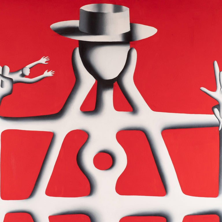 Structural Engineer - Painting by Mark Kostabi