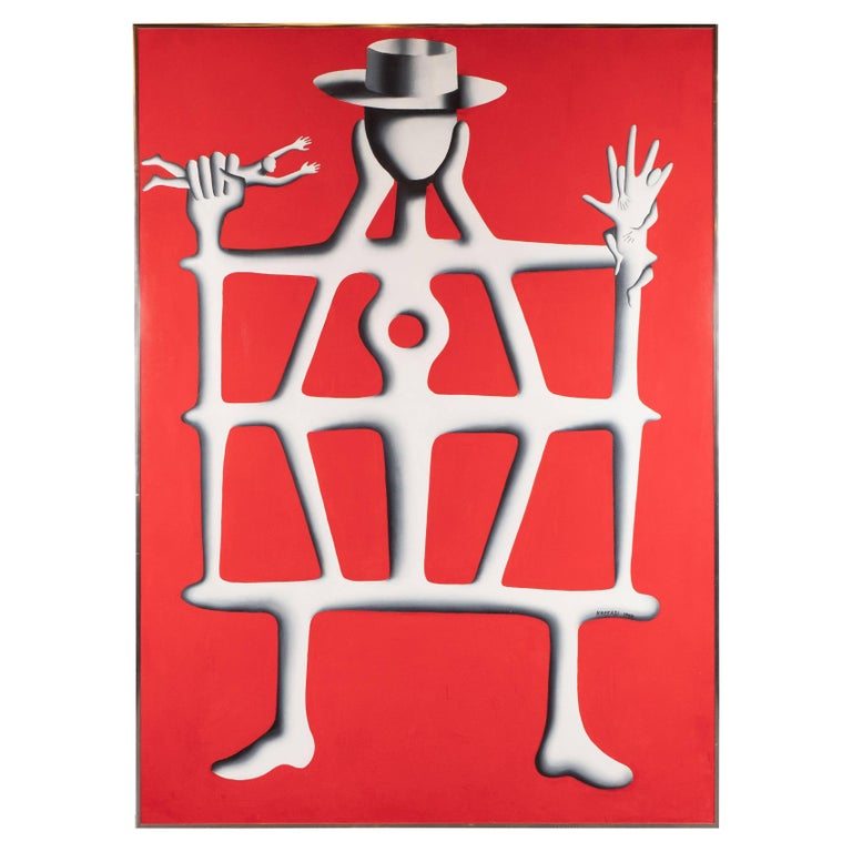 Mark Kostabi Abstract Painting - Structural Engineer