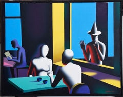 Wishful Thinking - Original Oil on Canvas by M. Kostabi - 1994