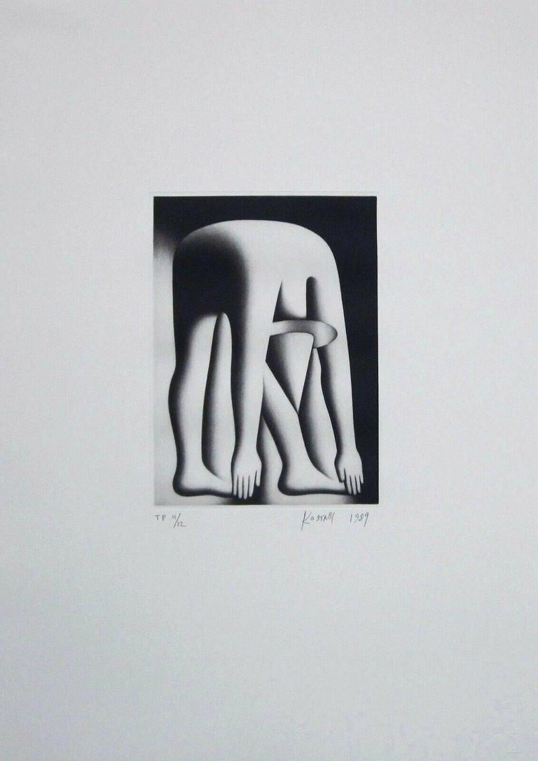 Body by Jake, Limited Edition Mezzotint Etching, Mark Kostabi - Pop Art Print by Mark Kostabi