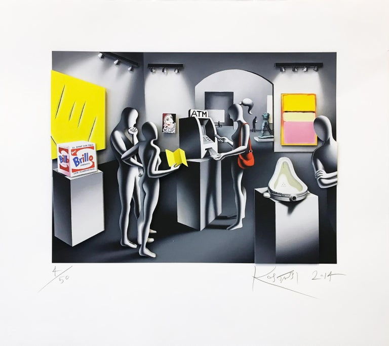 DREAM WITHDRAWAL (THREE DIMENSIONAL) - Print by Mark Kostabi