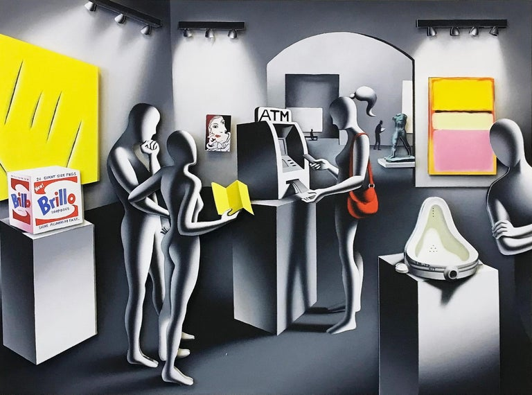 Mark Kostabi Figurative Print - DREAM WITHDRAWAL (THREE DIMENSIONAL)