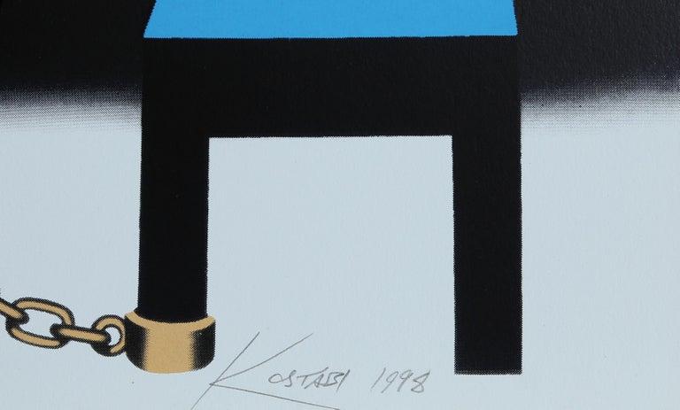 I Did it Steinway - Surrealist Print by Mark Kostabi
