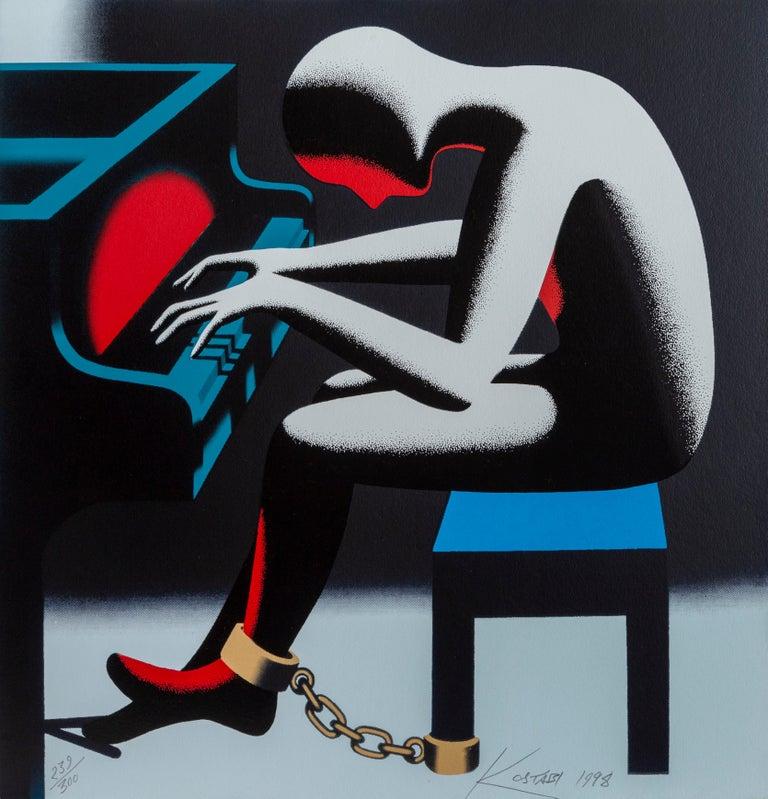 Mark Kostabi Portrait Print - I Did it Steinway
