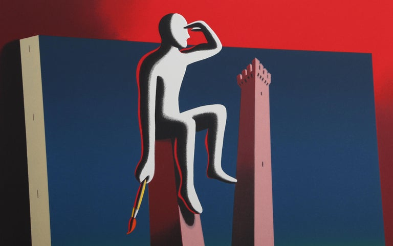 Loophole with a View - Print by Mark Kostabi