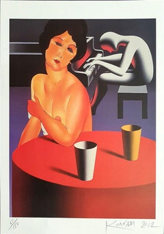 Lush Life - Original Lithograph by Mark Kostabi - 2012