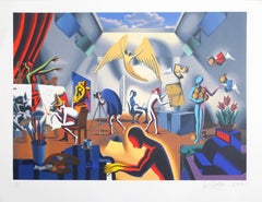 "Mark Kostabi, ""The Big Picture,"" Lithograph, 2002"