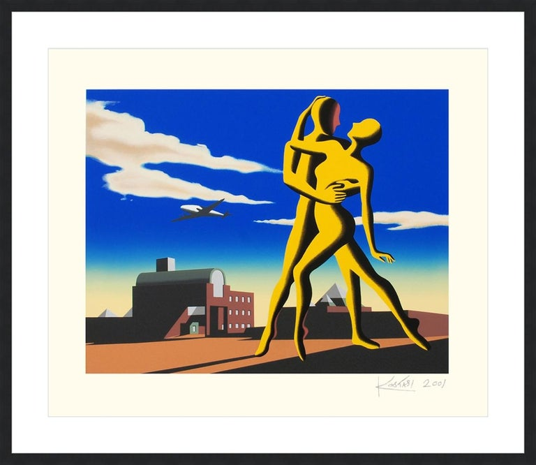 Mark Kostabi Print - MARK KOSTABI  YESTERDAY'S HERE  SIGNED AND NUMBERED