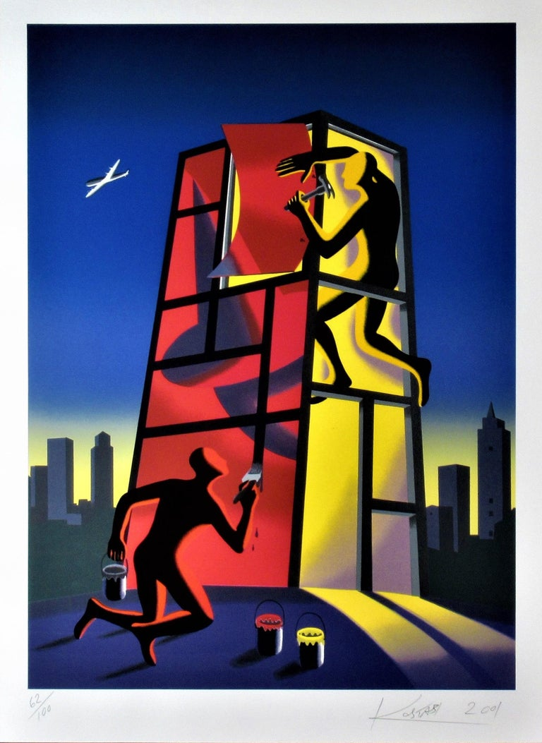 Panic in the Minefield - Print by Mark Kostabi