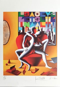 The Book of Love - Original Lithograph by Mark Kostabi - 2012