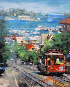Red Trolly in San Francisco