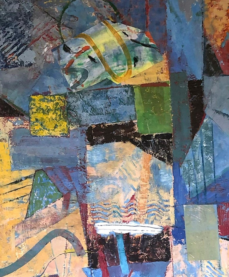 An original Encaustic painting on panel by American contemporary artist Mark Lavatelli from the artist's most recent series.  This painting comes housed in an artist made wood floater frame.
