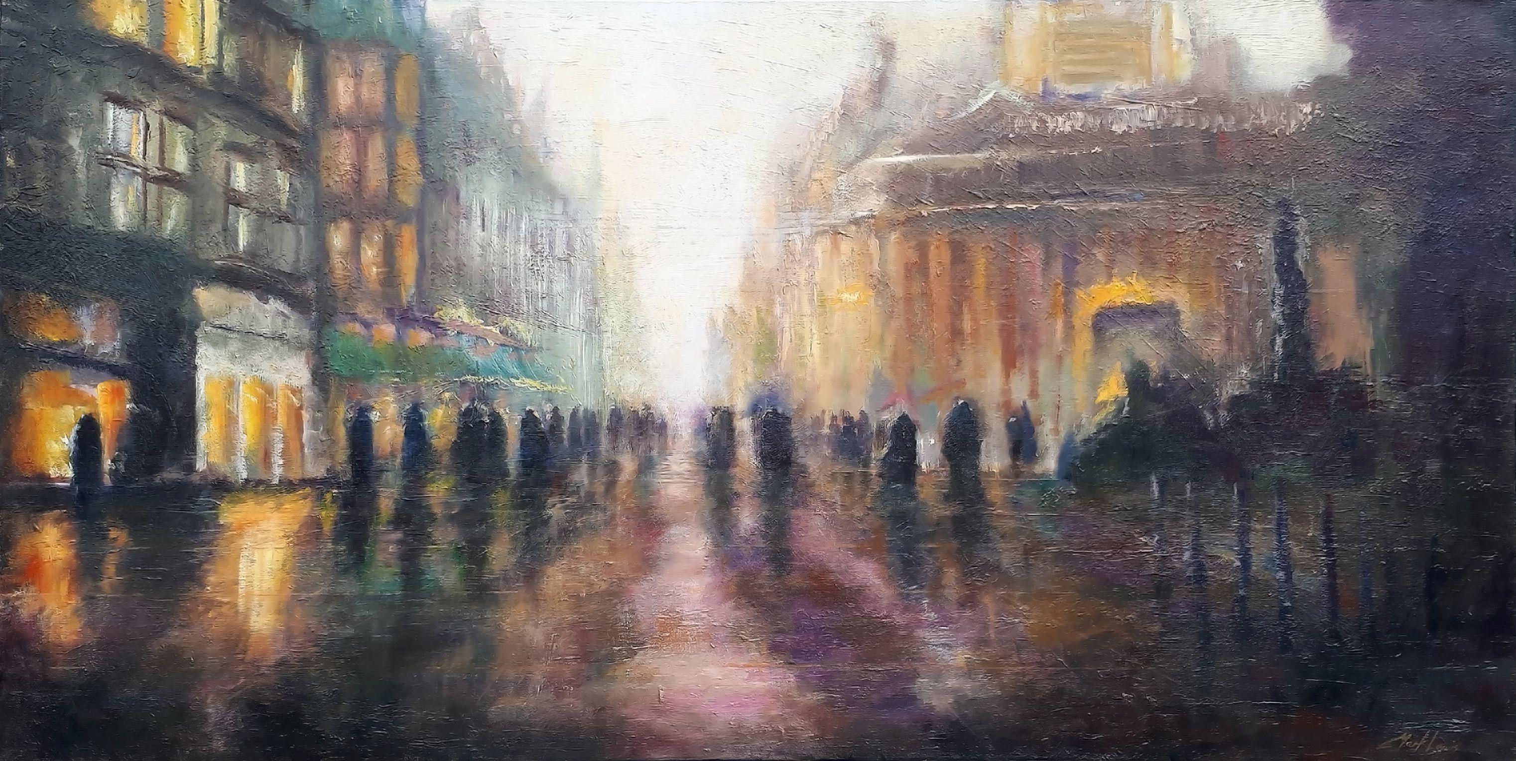 Buchanan Street, Glasgow, Painting, Oil on Canvas