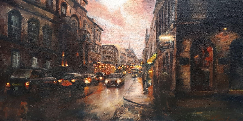 Drummond Street, Edinburgh, Painting, Oil on Canvas