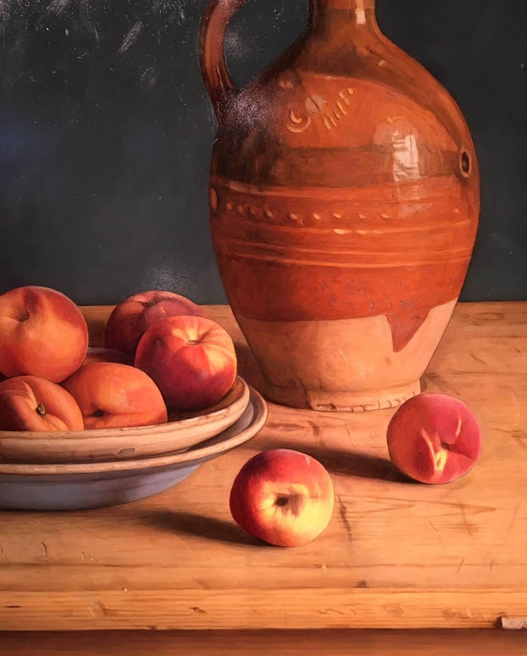 Contemporary Still-Life Painting by Mark Lijftogt 'A Bowl of Peaches'   For Sale 2