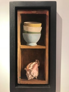 Contemporary Still Life painting 'Pink Shell' by Mark Lijftogt