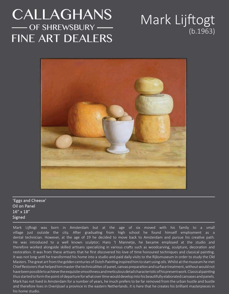 Realist Contemporary Still Life painting by Lijftogt 'Eggs and Cheese'  For Sale 3