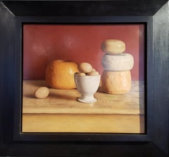Realist Contemporary Still Life painting by Lijftogt 'Eggs and Cheese'