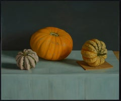 Realist Contemporary Still Life painting by Lijftogt 'Medlars'