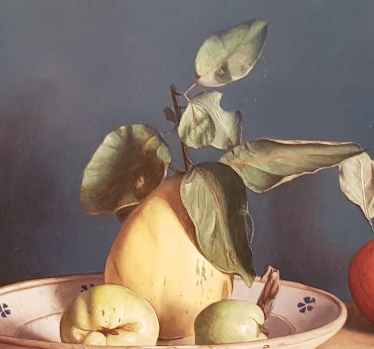 Realist Contemporary Still Life painting by Lijftogt 'Quinces with Apples''  For Sale 2
