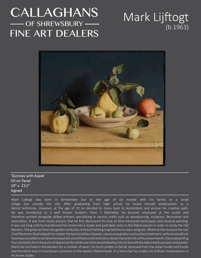 Realist Contemporary Still Life painting by Lijftogt 'Quinces with Apples''  For Sale 4