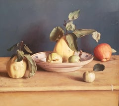 Realist Contemporary Still Life painting by Lijftogt 'Quinces with Apples''