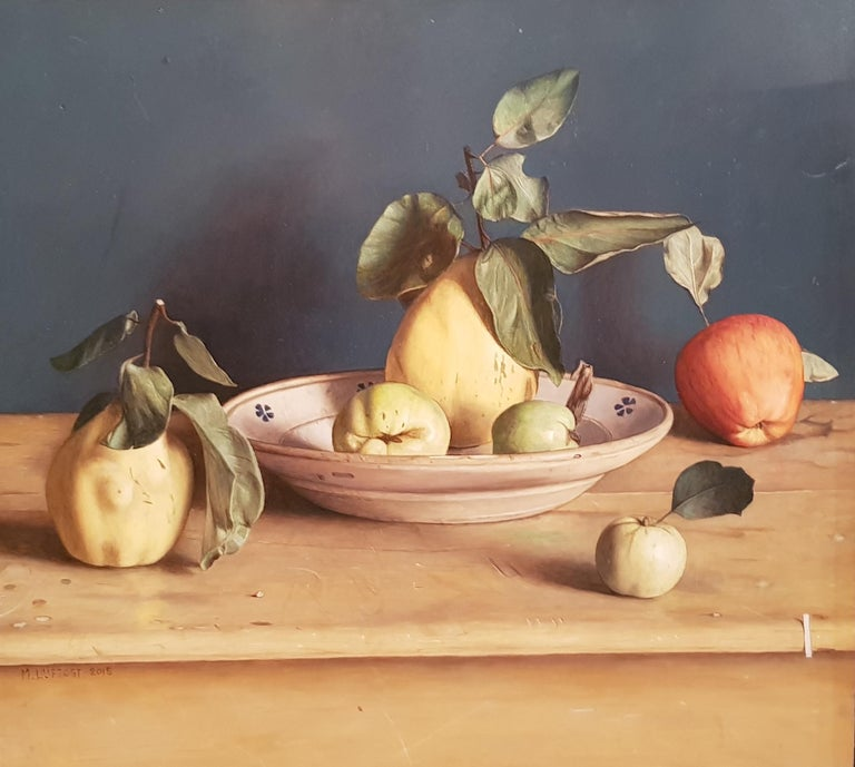 Realist Contemporary Still Life painting by Lijftogt 'Quinces with Apples''  - Painting by Mark Lijftogt