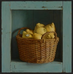 Realist Contemporary Still-Life painting by Mark Lijftogt 'Basket of Lemons'