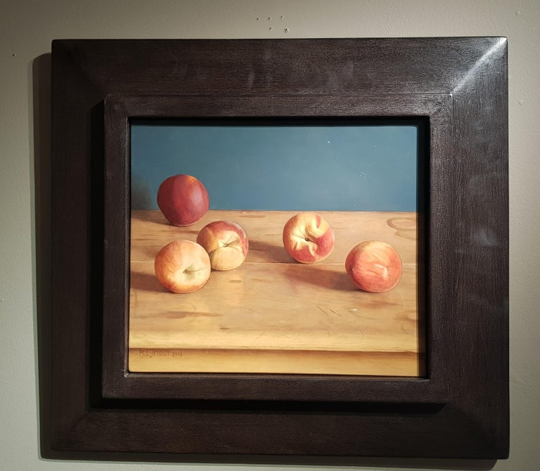Realist Contemporary Still-Life painting 'Peaches' by Mark Lijftogt  For Sale 1