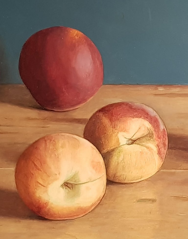 Realist Contemporary Still-Life painting 'Peaches' by Mark Lijftogt  For Sale 3