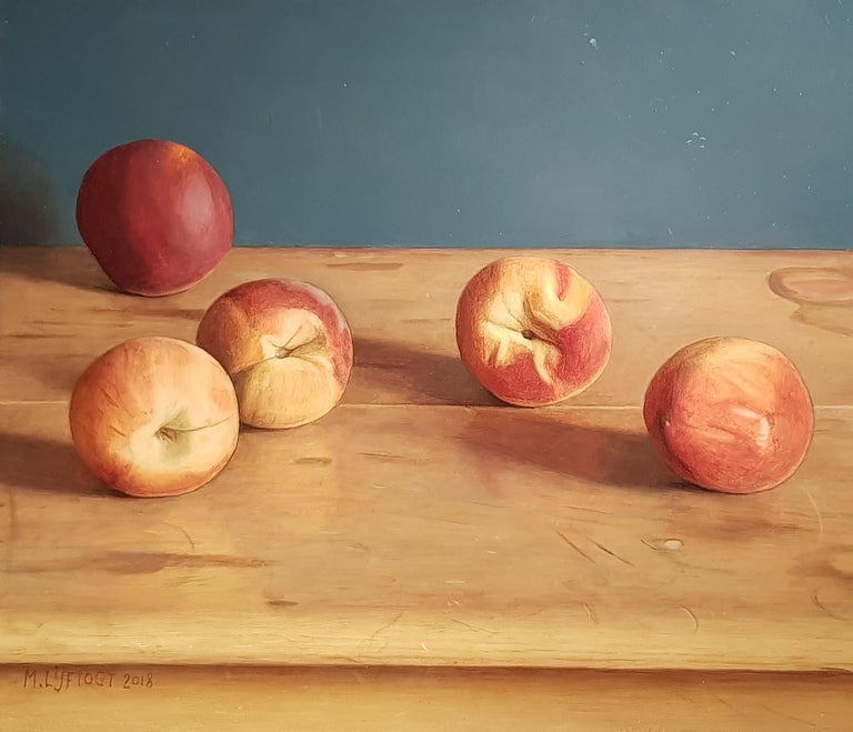 Mark Lijftgot is a fantastic contemporary Dutch realist painter. 'Peaches' is an incredibly accomplished painting, full of realism and subtlety - a brilliant addition to any collection.  Lijftogt was born in Amsterdam and at the age of 19 decided to