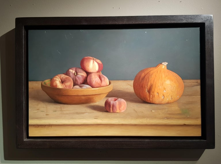 Realist Contemporary Still-Life painting 'Wild Peaches' by Mark Lijftogt  1