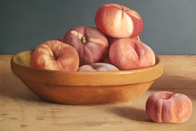 Realist Contemporary Still-Life painting 'Wild Peaches' by Mark Lijftogt  2
